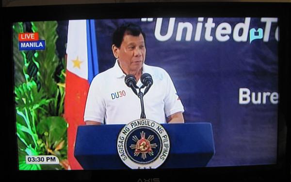 フィリピンのテレビ放送・ドゥテルテ大統領