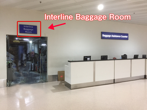 Interline-baggage-room