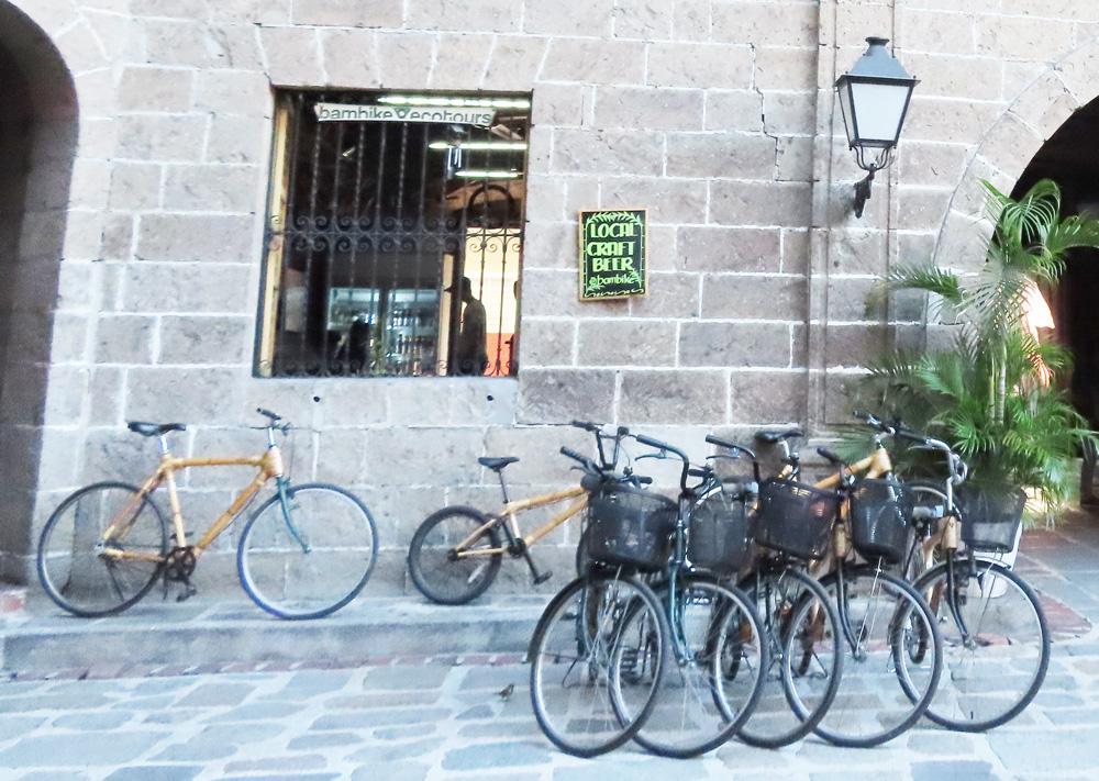 フィリピン留学APSE・マニラ観光・竹でできた自転車・bambike