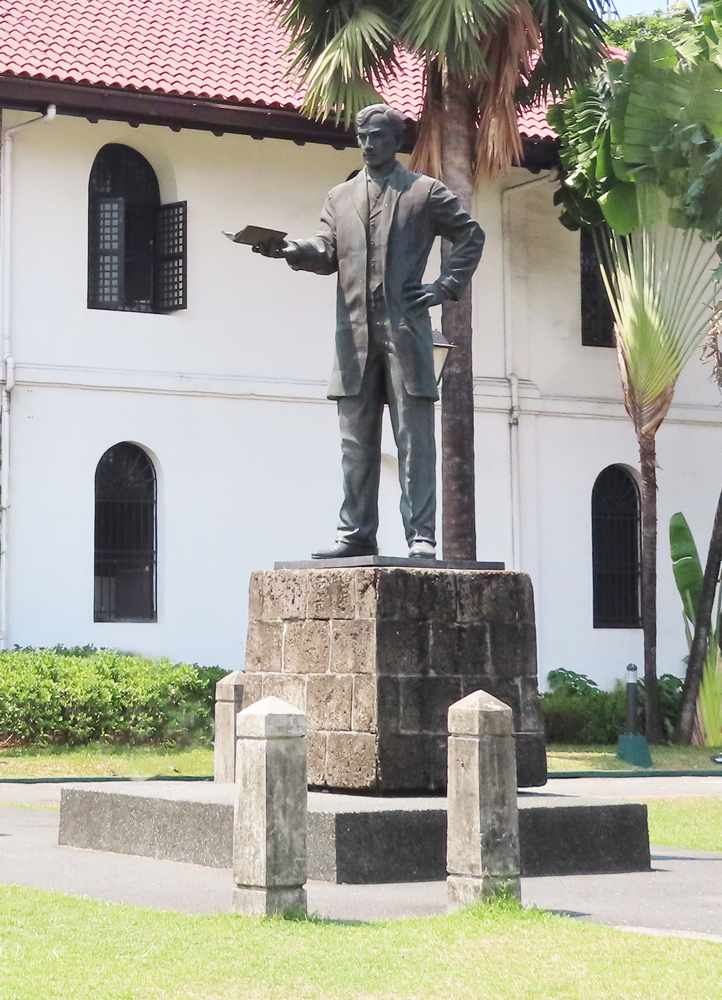 国民的英雄ホセ・リサール像・フィリピン留学APSE-サンチャゴ要塞/Fort Santiago